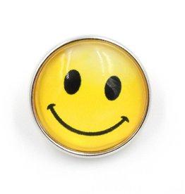 Snap Button Jewels® | glass fun | yellow | emoji smile