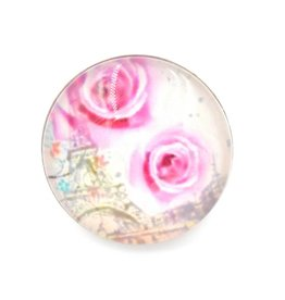 Snap Button Jewels™ | glass canvas art | pink | two roses