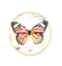 Snap Button Jewels™ | glass | orange black butterfly
