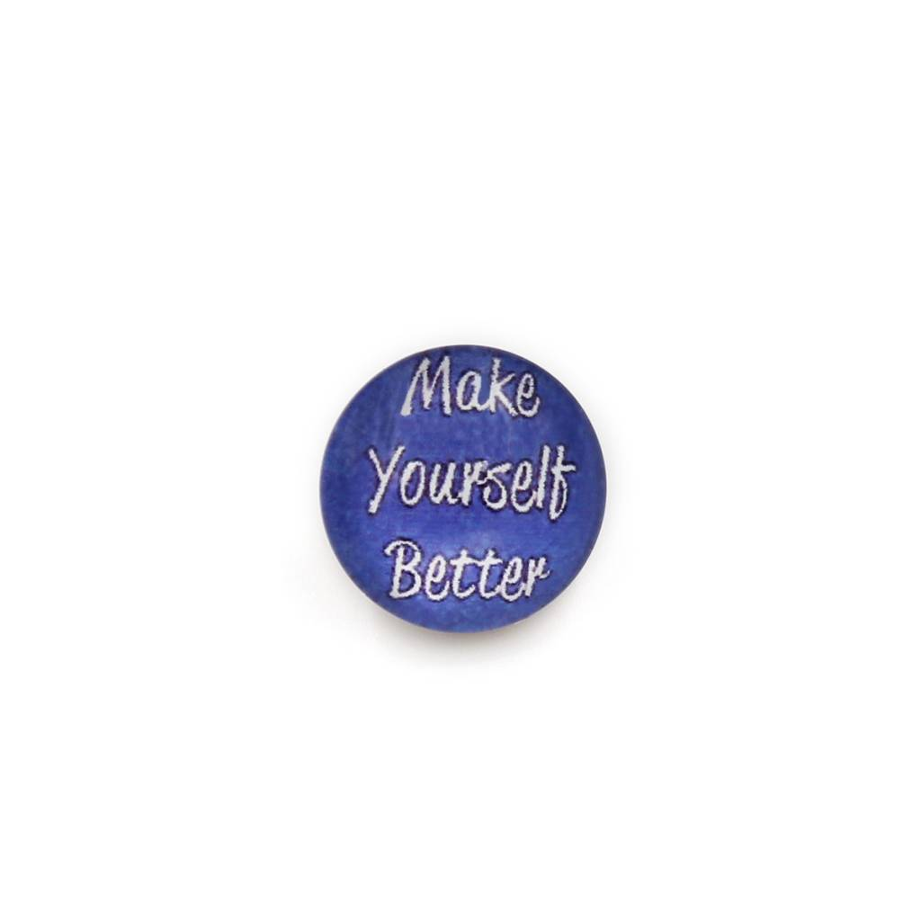 Snap Button Jewels™ | glass words of insight | purple | make yourself better
