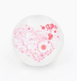 Snap Button Jewels™ | glass heart | red | dot swirls