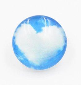 Snap Button Jewels™|  glass hearts| blue |sky heart cloud