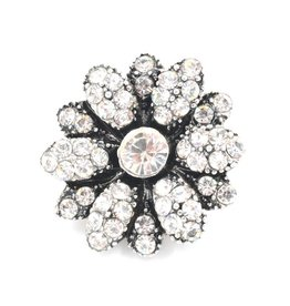 Snap Button Jewels™ | crystal | white | vintage flower