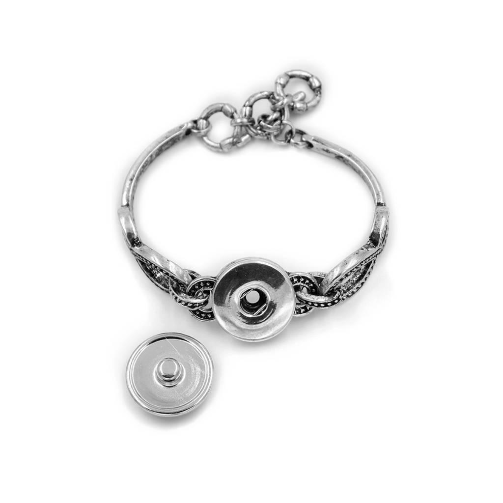 Snap Button Jewels™ | glass clock | beach palm tree