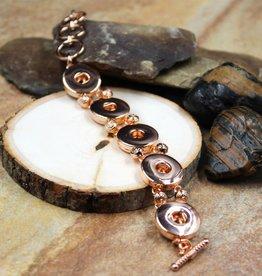 bracelet |rose  gold | 5 snap button