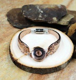 bracelet | rose gold | ornate spoon | 1 snap button