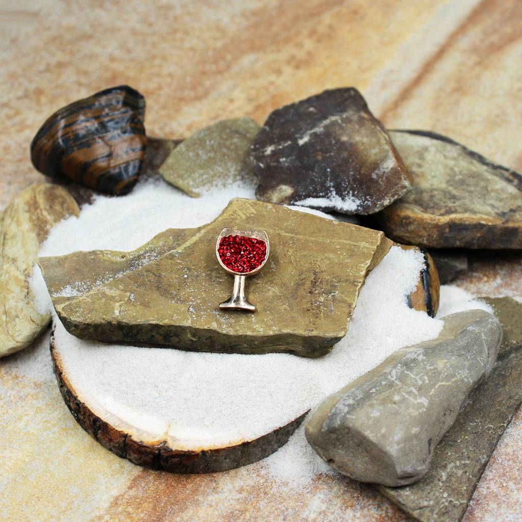 Snap Button Jewels™ | rhinestone | red | wine glass