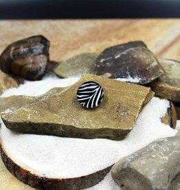 Snap Button Jewels™ | glass | General | black white | zebra stripes