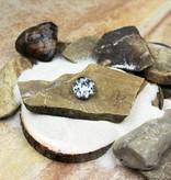 Snap Button Jewels™ |  glass | black white | butterflies