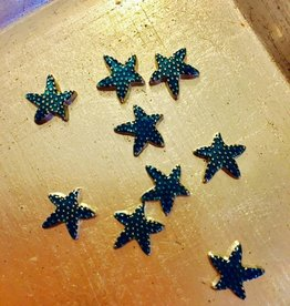 floating charms   blue   star with dots