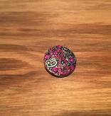 Snap Button Jewels™   rhinestone   pink   heart patterns