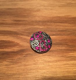 Snap Button Jewels™ | rhinestone | pink | heart patterns