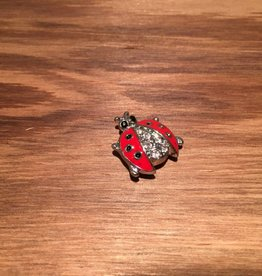 Snap Button Jewels® | animal  | red | ladybug white black rhinestones