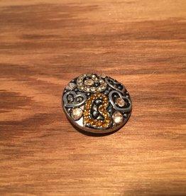 Snap Button Jewels™   rhinestone   silver   gold cream rhinestone heart patterns