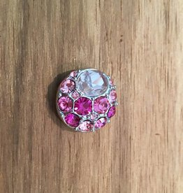 Snap Button Jewels™ | rhinestone | light pink | multi stone