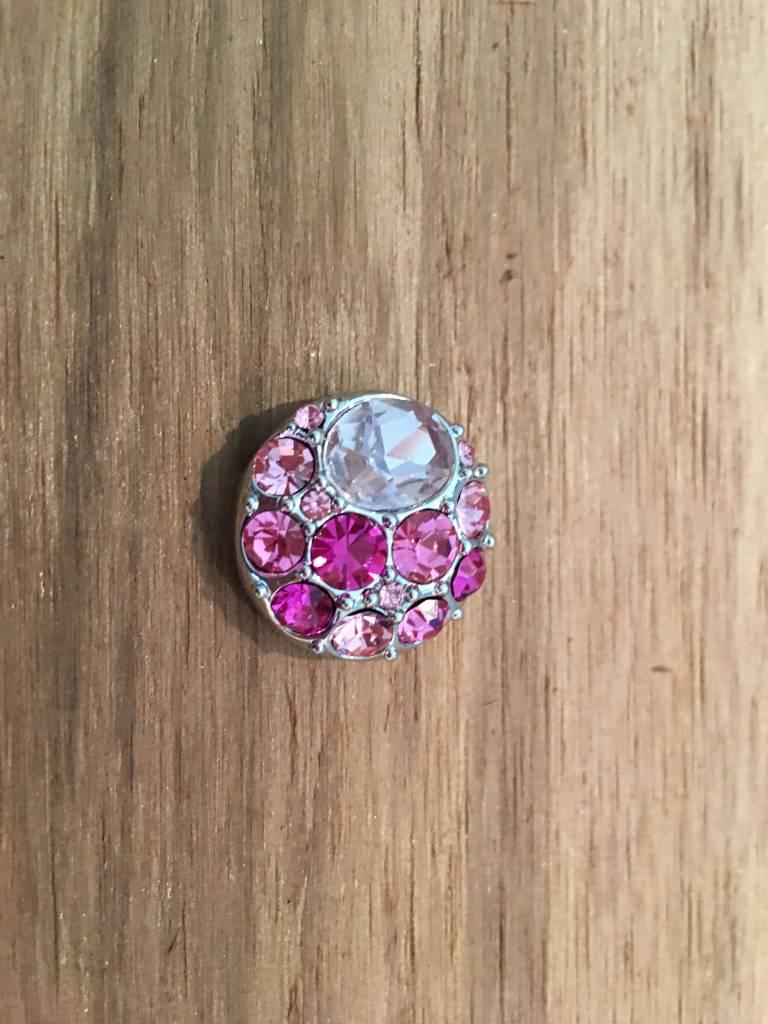 Snap Button Jewels™ | rhinestone | light pink | multi stone