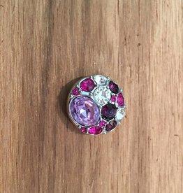 Snap Button Jewels™   rhinestone   hot pink   multi stone