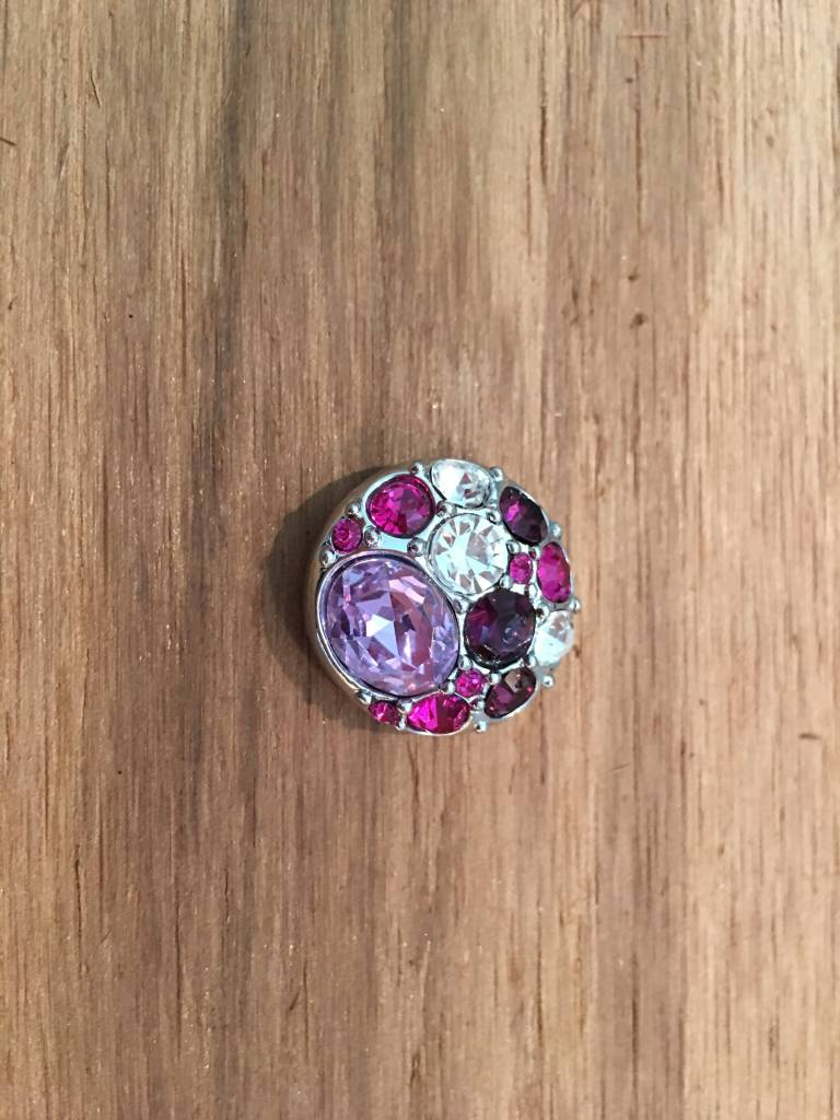 Snap Button Jewels™ | rhinestone | hot pink | multi stone