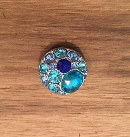Snap Button Jewels™ | rhinestone | light blue | multi stone