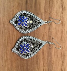 earrings   silver   rhinestone edge   1 mini snap button