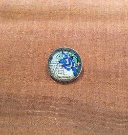 Snap Button Jewels™ | glass canvas art | blue | multiple butterflies words written