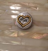 Snap Button Jewels™   Fashion   Silver  Gold Heart Mom