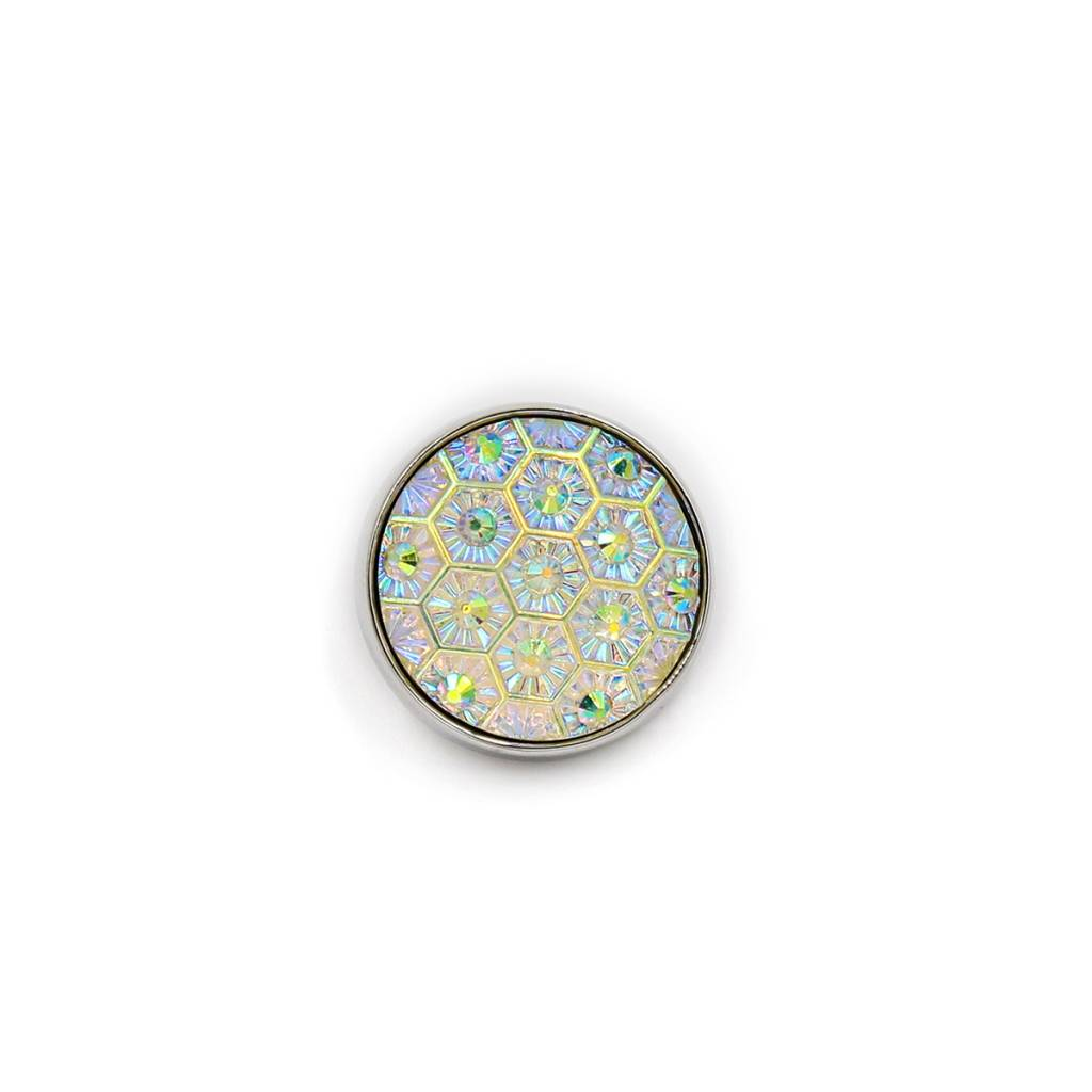Snap Button Jewels™ | crystal | white iridescent
