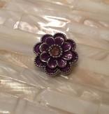 Snap Button Jewels™ | rhinestone | purple | enamel flower