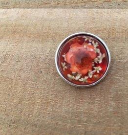 Snap Button Jewels™   orange   3D flower