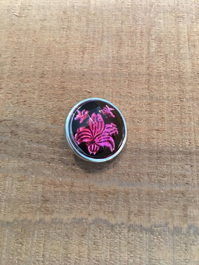 Snap Button Jewels™ | Fashion | pink | lotus flower