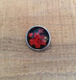 Snap Button Jewels™ | Fashion | Red | Lotus Flower