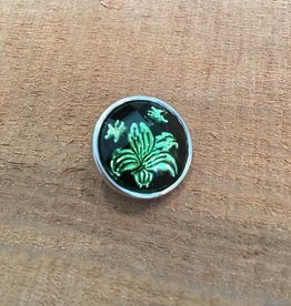 Snap Button Jewels™ | Fashion | Green | Lotus Flower