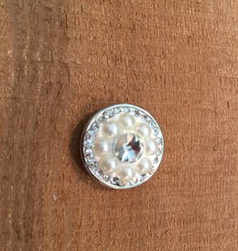 Snap Button Jewels™ | rhinestone | white | pearl and rhinestones