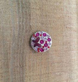 Snap Button Jewels™ | rhinestone | hot pink | butterfly multi stone