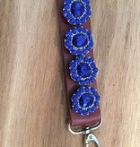 keychain   brown   leather   4 snap buttons