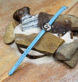 bracelet | light blue | croc leather | 1 Snap