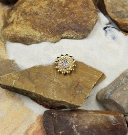 Snap Button Jewels™ | rhinestone | gold | star white stones center