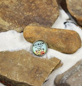 Snap Button Jewels™ | glass words of insight | light blue | dream without fear
