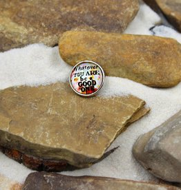 Snap Button Jewels®   glass words of insight   orange   whatever you are