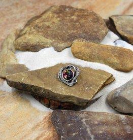 Snap Button Jewels™   rhinestone   multi color   double heart