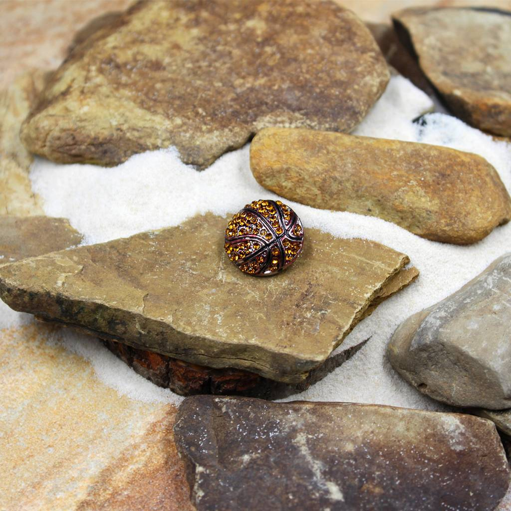 Snap Button Jewels™ | rhinestone | orange | basketball