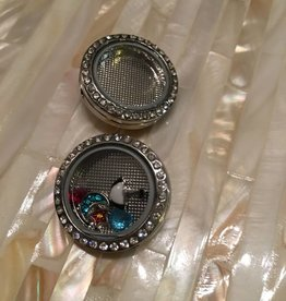Snap Button Jewels™ | fun | silver | circle floating charms