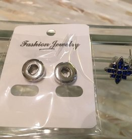 earrings   silver   simple studs   1 mini snap button