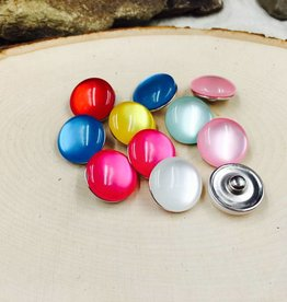 Snap Button Jewels™ | glass |  dark pink | Jelly Bean Snaps