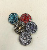 Snap Button Jewels™ | rhinestone | brown | Double Rhinestone Vintage Flower