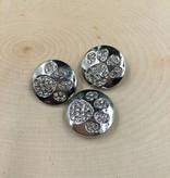 Snap Button Jewels™ | rhinestone | silver | Rhinestone Dog Paw