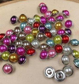 Snap Button Jewels™   mini snaps   white   Pearlized Mini Jelly Bean