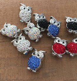 Snap Button Jewels™ | rhinestone | white | Owl Pops Rhinestone Belly