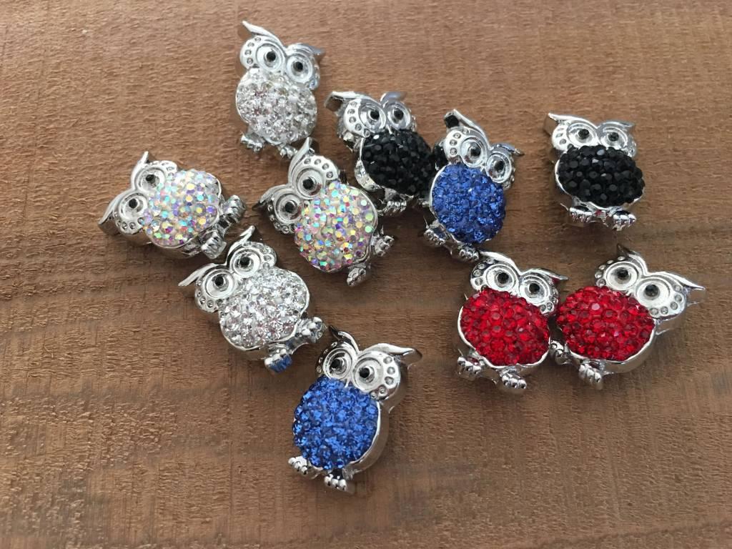 Snap Button Jewels™ | rhinestone | white | Owl Pops Rhinestone Belly