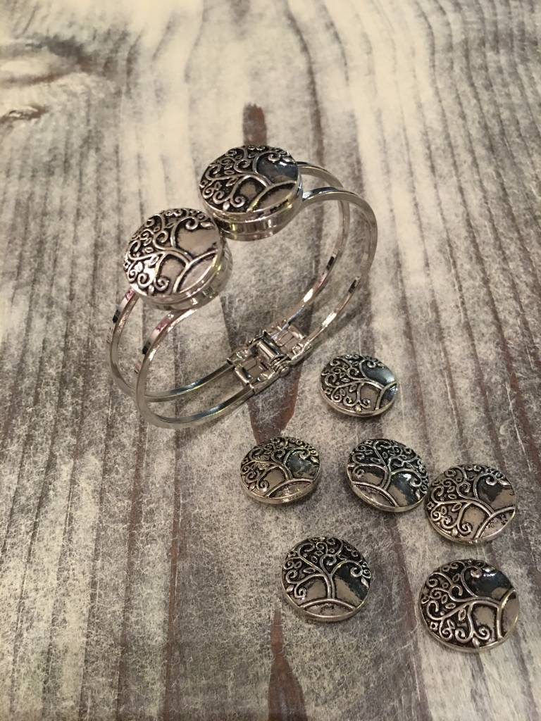Snap Button Jewels®   Fashion   silver   Tree of Life